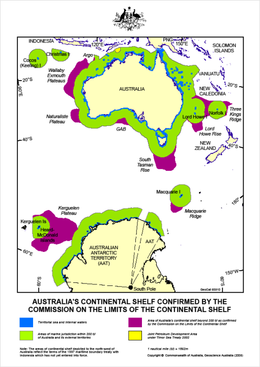Australia Defence Association Australia Continental Shelf - Australia continental map