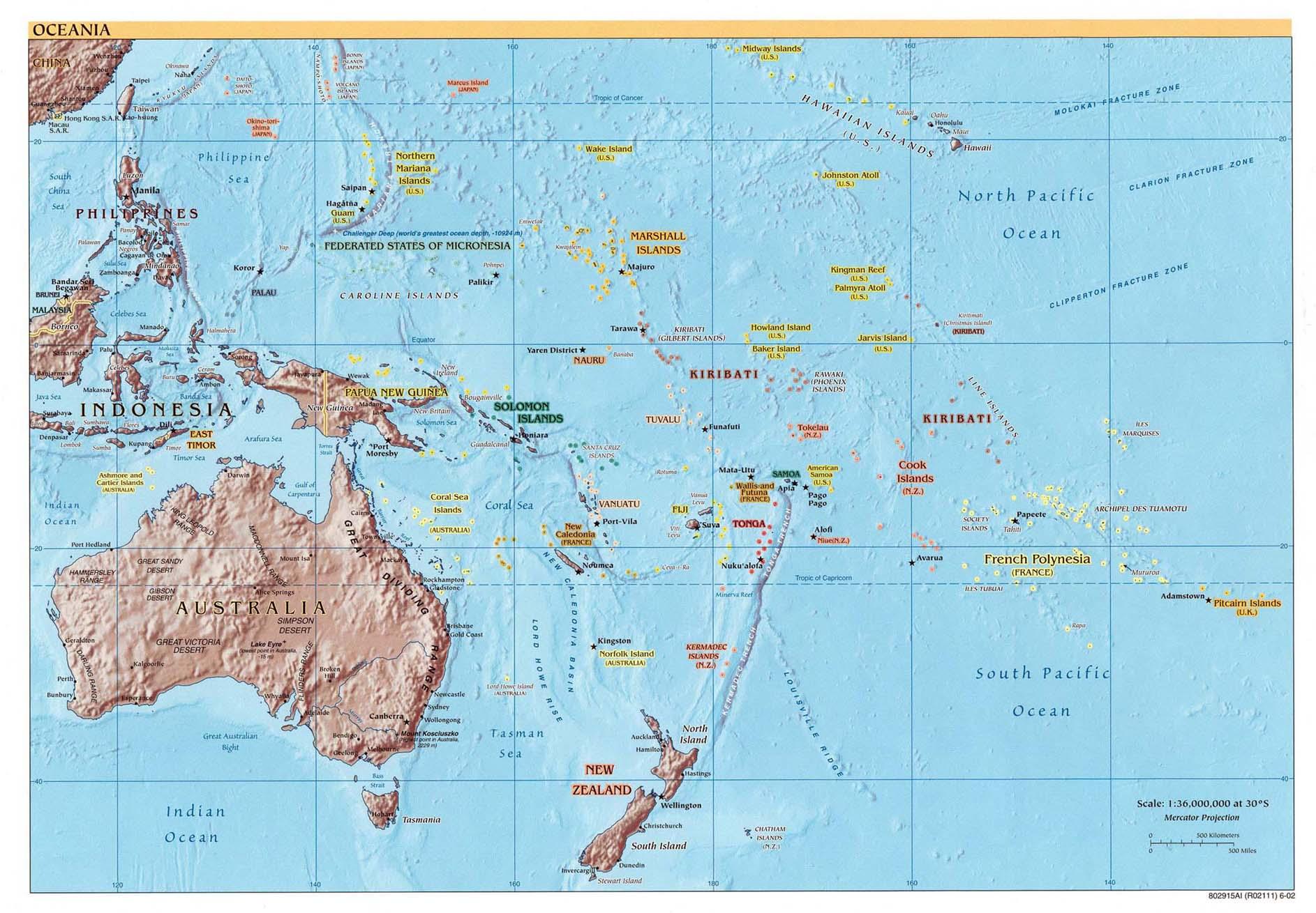 Australia Defence Association Pacific Ocean Relief - Us Map Pacific Ocean